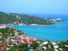 charlotte amalie and hills from high up