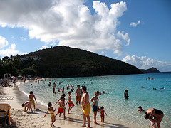 Magens Bay crowds