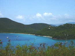 maho bay from road scenic view