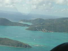 Virgin Islands from airplane window 3